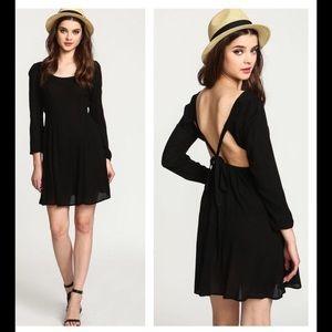 NWT Black Boho Dress